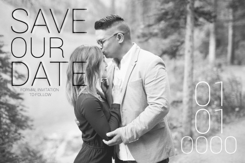 Engagement Photo Save the Date