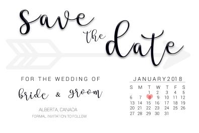 Save the Date Calendar 2