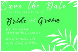 Save the Date Green